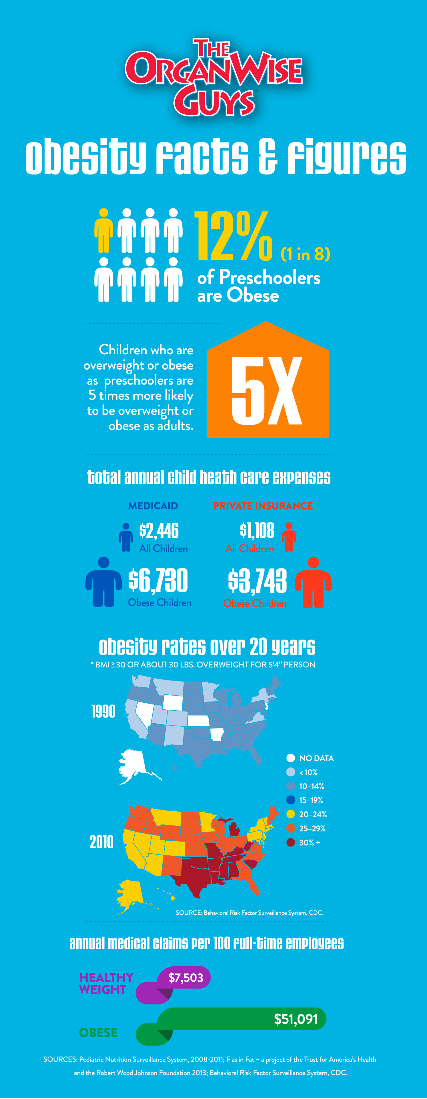 Obesity by the numbers infographic