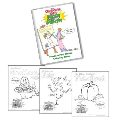 7512 Foods of the Month Coloring Book MAIN SITE